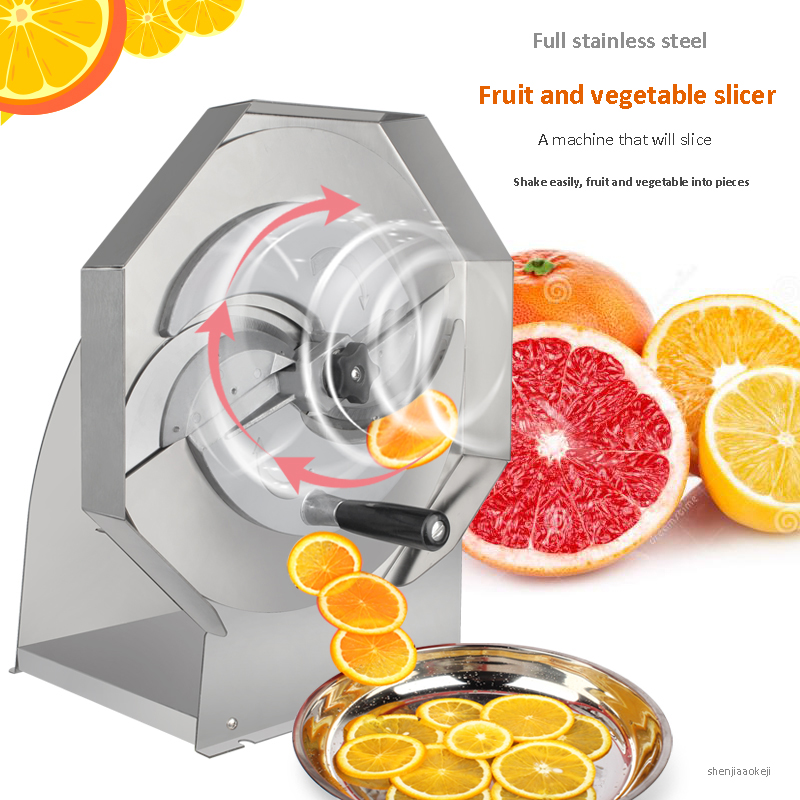 Commercial Manual slicer Stainless Steel Vegetable Fruit lemon Slicer Thick Adjustable Slicer lemon slicing machine 0.8-8MMCommercial Manual slicer Stainless Steel Vegetable Fruit lemon Slicer Thick Adjustable Slicer lemon slicing machine 0.8-8MM