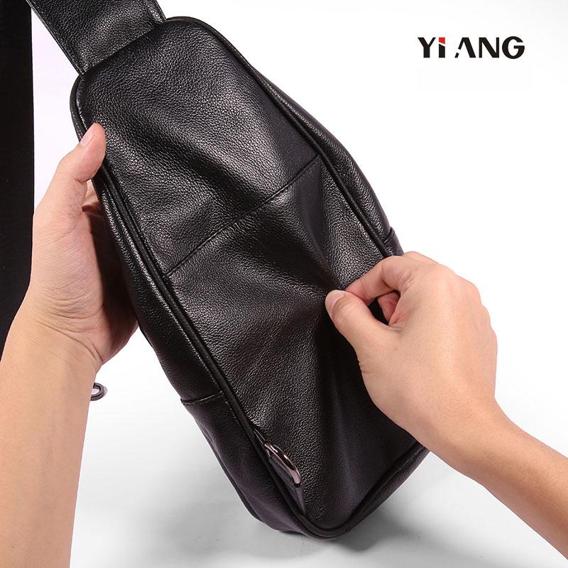Poitrine De Unique Yiang Cuir Messager Sacs Dos À Black Sac Véritable En brown Hommes Bandoulière Tablette Vintage qttwExU0