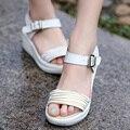 2016 Новое Лето Pep-toe Сандалии Женщины Плоским Платформа Лето Женская Обувь Мода Все Матч Обувь для Женщин Zapatos Mujer
