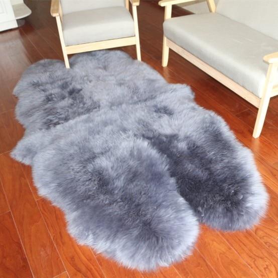 Uzun Faux Kurk Suni Deri Koyun Kilim Kabarik Sandalye Koltuk Kanepe Kilifi Hali Mat Alan Kilim Oturma Odasi Ev Dekorasyon 172 102