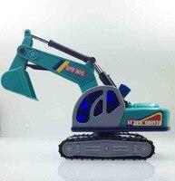 Child Toys Vehicles Large Crawler Excavator Digging Plastic Children Toy Truck Model Car Dumper Rotate 360 Construction