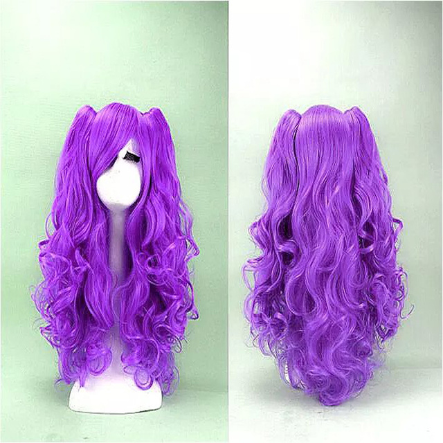 HAIRJOY Purple Red Blue Black Cosplay Wig Long Curly Synthetic Hair Cosplays  Party  Costume Lolita Wigs