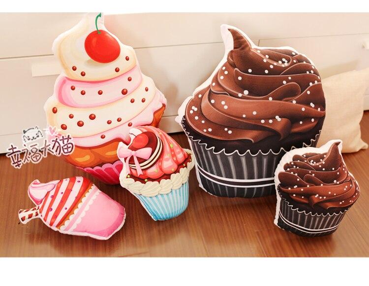 Kreative 1 stück 30 cm cartoon cupcakes plüschtiere eis kuchen kissen kissen geburtstag geschenke