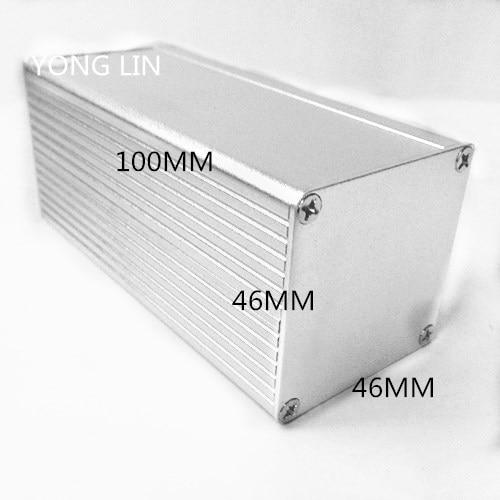 1 Stücke Aluminium Box/aluminium Shell/kamera Gehäuse/aluminiumgehäuse Led Stromversorgung 100*46*46 Aluminium Box