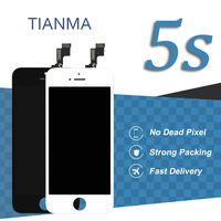 10pcs Tianma Quality For IPhone 5S LCD Screen 4 Inch Black White Display Digitizer Assembly Phone