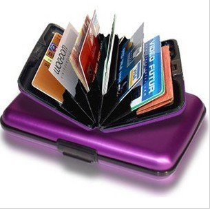Free shipping (48pcs/lot) Aluminium Credit card wallet cases 8 colors  card holder ,bank card case aluminum wallet BG001