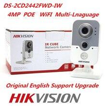Hikvision Original WiFi IP Camera DS-2CD2442FWD-IW 4MP IR Cube Web Camera Hikvision CCTV Security Camera