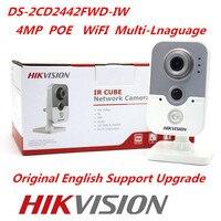 Hikvision Original WiFi IP Camera DS 2CD2442FWD IW 4MP IR Cube Web Camera Hikvision CCTV Security