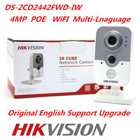 Hikvision Original WiFi IP Camera DS 2CD2442FWD IW 4MP IR Cube Web Camera Hikvision CCTV Security