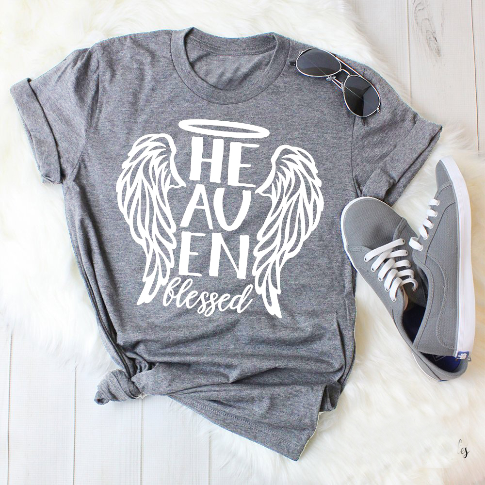 Heaven Blessed Design Angel Wings Christian Files Faith Clipart Faith Quotes Graphic Wine Women Fashion T Shirt Aesthetic Tees T Shirts Aliexpress