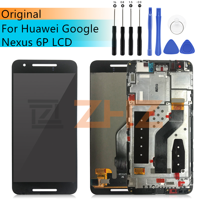original For Huawei Nexus 6P LCD digitizer Assembly Touch Screen Replacement lcd Digitizer Frame 5 7