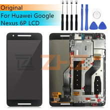 """original For Huawei Nexus 6P LCD digitizer Assembly Touch Screen Replacement lcd Digitizer + Frame 5.7"""" Google Nexus 6P LCD"""