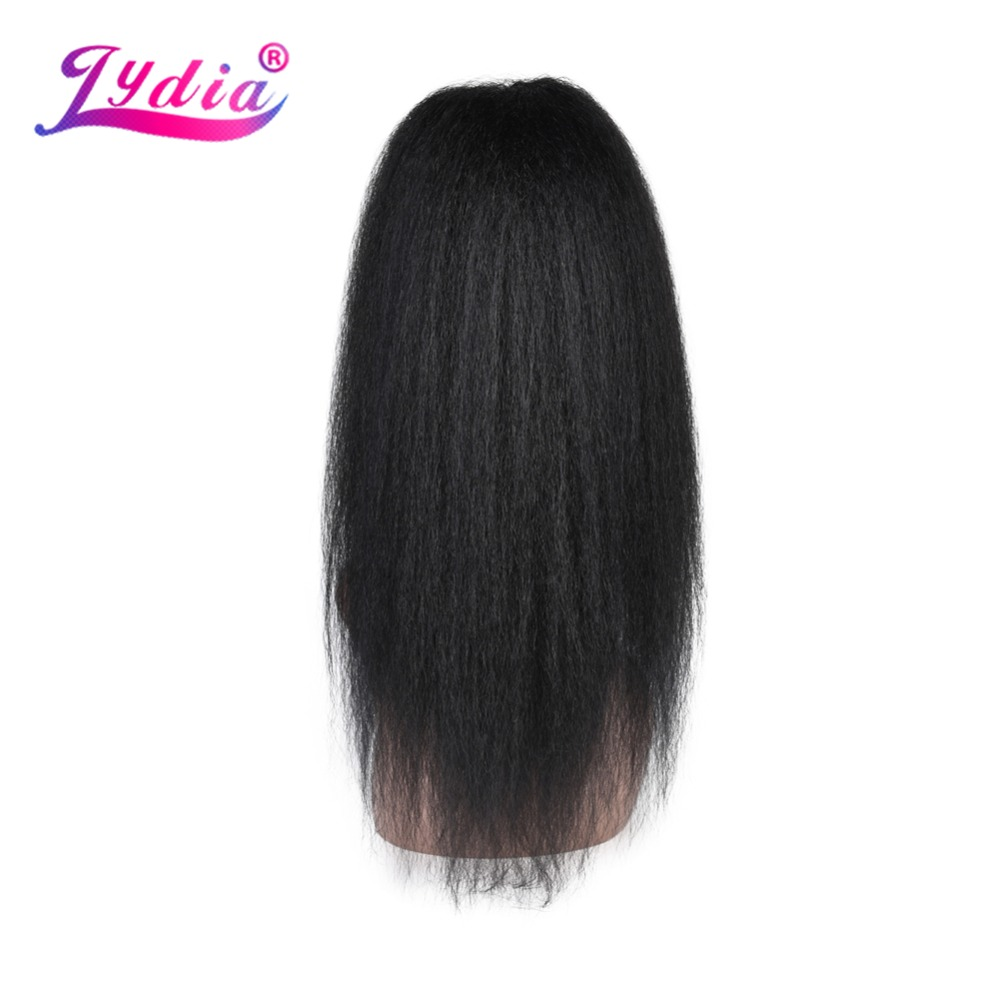 "Lydia Heat Resistant Synthetic 20""-22"" Kinky Straight Hair With Two Plastic Combs Ponytail Extensions All Colors Available(China)"