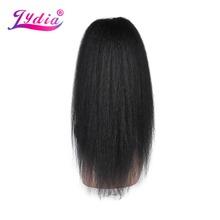 Lydia odporne na ciepło Synthetic 20-22 Kinky proste włosy z dwóch plastikowych grzebienie ponytail rozszerzenia wszystkie kolory dostępne tanie tanio Tylko 1 sztuka W mieście kanekalon Clip-in 80g sztukę Perwersyjne prosto Czysty kolor