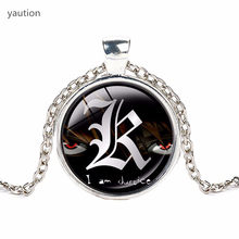 Anime Death Note High Quality Pendant Necklace Personality Jewelry Crystal Glass Animated Round Dome Necklace Statement(China)