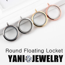 10PCS 30mm Round Living Memory Magnetic Glass Locket Floting Charm Locket Pendants without Chain Jewelry