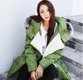 2016 New Winter Women Down Coat Jacket Medium-long Real Fox Fur Hooded Parka Big Wool Collar Loose Big Pocket Outwear