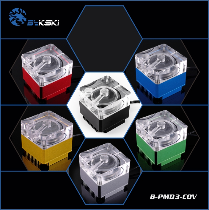Bykski B-PMD3-COV DDC pump , pump head 6 meters , flow 600L / H , water-cooling все цены
