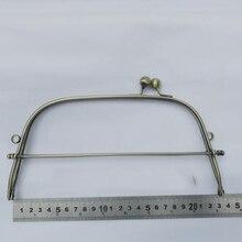 23 เซนติเมตรสีบรอนซ์ลวดเหล็กผู้หญิงกระเป๋า DIY ทำโลหะ clasp kiss buckle กรอบอุปกรณ์ฮาร์ดแวร์ 3 เซ็ต/ล็อต