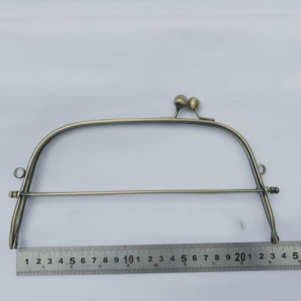 23cm Bronze Color Iron Wire Women DIY Bag Making Metal Clasp Kiss Buckle Purse Frame Hardware Accessories 3sets/lot