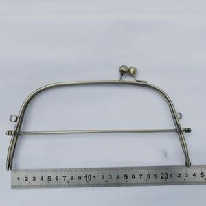 Image 1 - 23cm bronze color iron wire women DIY bag making metal clasp kiss buckle purse frame hardware accessories 3sets/lot
