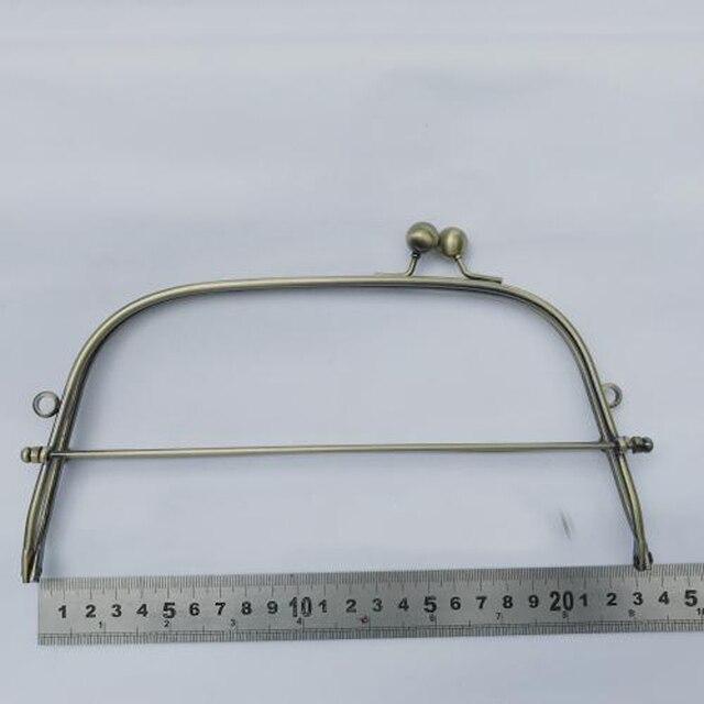 23cm bronze color iron wire women DIY bag making metal clasp kiss buckle purse frame hardware accessories 3sets/lot