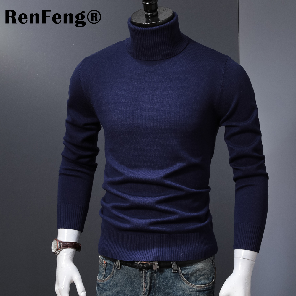 Winter Thick Warm Cashmere Sweater Men Turtleneck Mens Sweaters 2018 Slim Fit Pullover Men Classic Wool Knitwear Pull Homme (3)