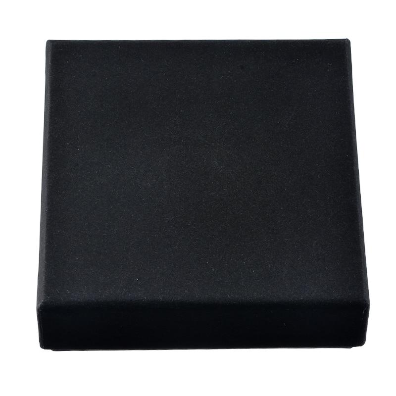 MJARTORIA 2PCs Black Kraft Jewelry Boxes And Packaging Necklace Holder Organizer Ring Display Fashion Wedding Gift Box 9x9x3cm