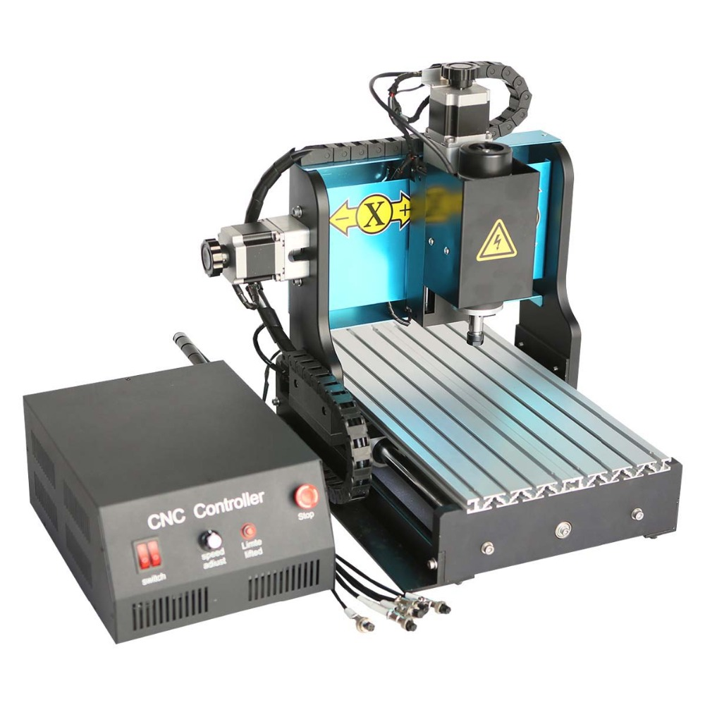 CNC 3020Z-D milling Machine with 300W spindle and limit switch Install control software and drive for MACH 3 or EMC2  cnc router 3020z d 300w spindle 3 or 4axis cnc cutting machine