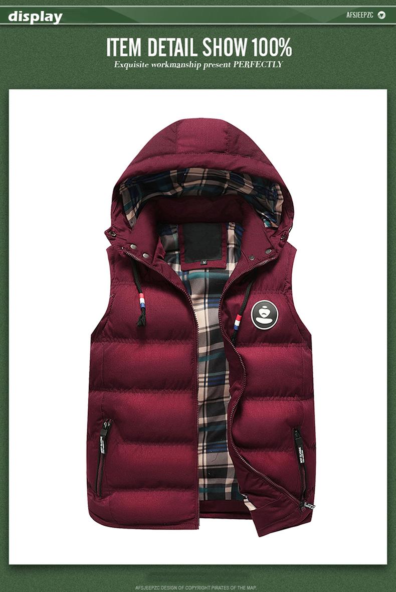 6718225e5c811 ShowMyHot Man Fashion Slim Fit Winter Sleeveless Vest Male Autumn ...
