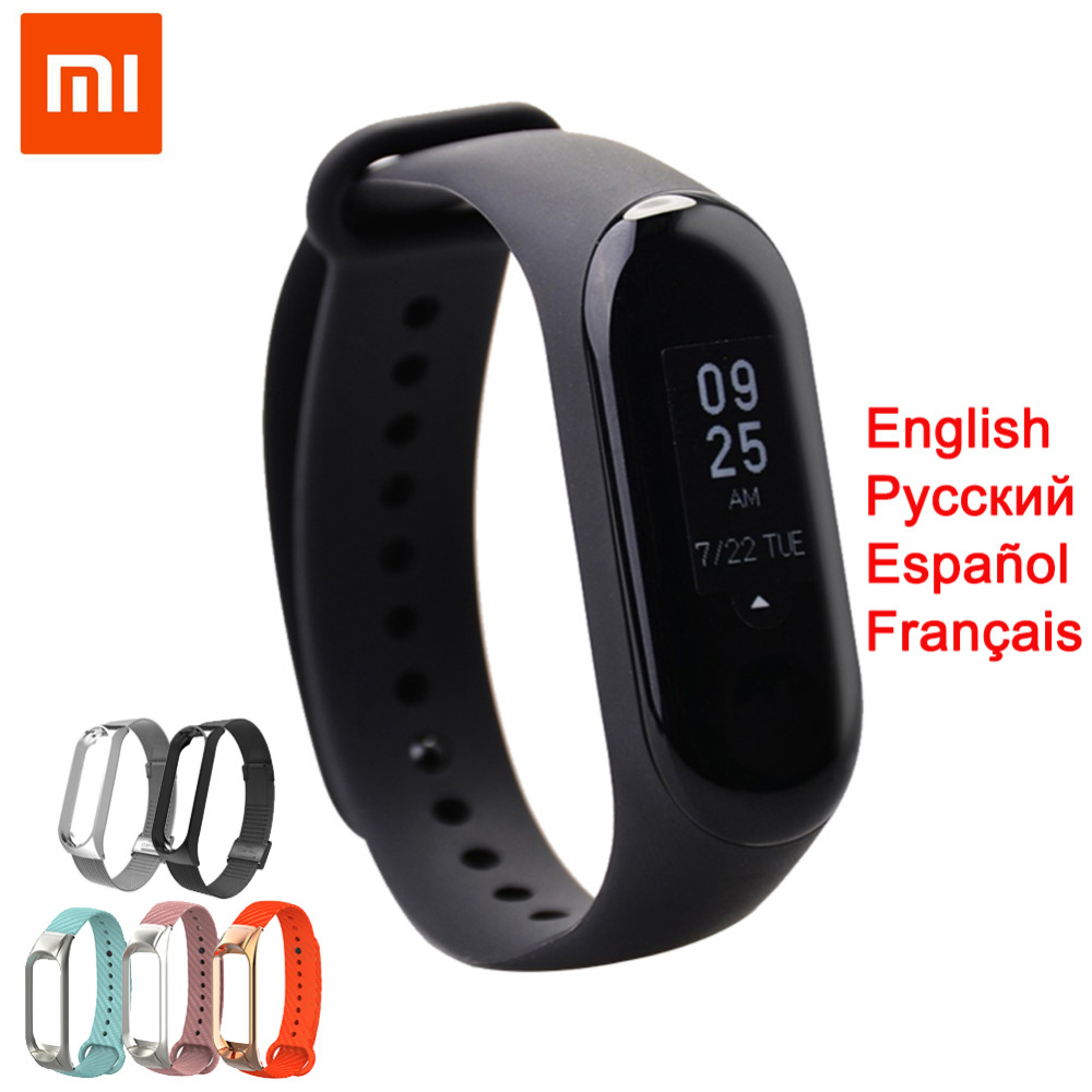 Original Mi Band 4 3 Fitness Bracelet OLED Touch Screen 5ATM Waterproof Xiaomi Band 3 Smartband Weather Forecast Global Language image
