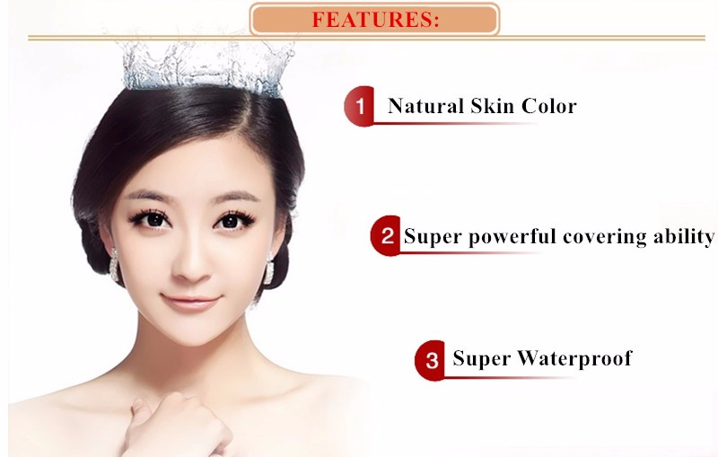 Waterproof Concealer for Tattoo Acne Scar Birthmark Spots 8 Colors for Option Longtime lasting Multi Use Tattooing Cover (9)