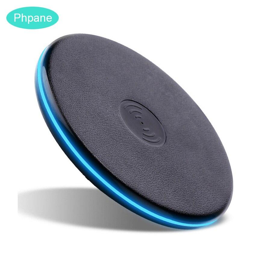Couro Tapete De Carregamento Sem Fio do Carregador Qi Chargeur de Indução de Carga Sem Fio de Carregamento Pad Para iPhone Samsung Huawei P30 S10