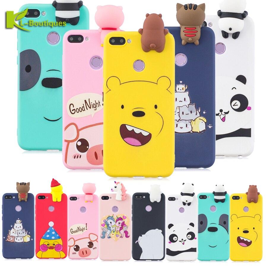 Cute Cases sFor Fundas Huawei honor 10 lite case For Hoesje 3D Cartoon Panda Phone Skin Covers Coque