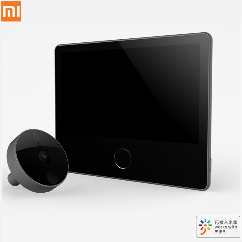 Xiaomi Luke Smart Door Video doorbell Cat Eye Youth Edition CatY Gray Mijia App Control Rechargable IPS Display Wide Angle image