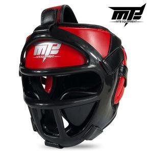 Image 3 - Kids Adults MMA Boxing Muay Thai Helmets W/Mask Martial Arts Taekwondo Removable Sparring Sanda Training Headgear 2019 EO