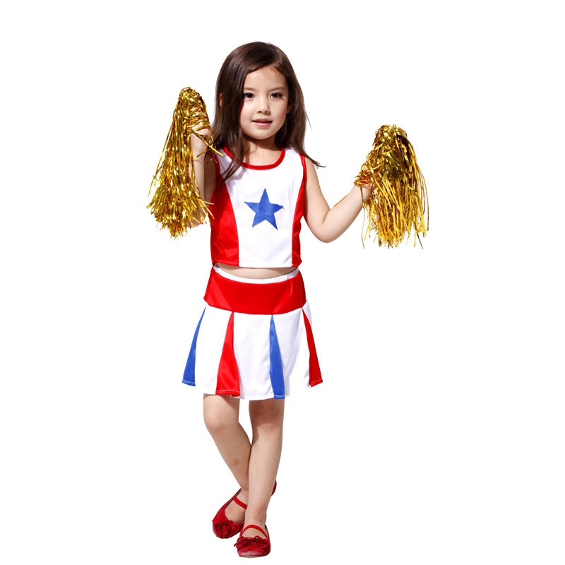 buy m xl girls halloween costumes kids cheerleader uniforms cosplay day stage performance sports games dress from