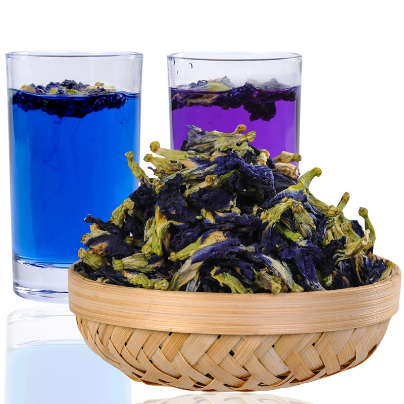1bag 100g 1500g Clitoria Ternatea Dry Flower Kitchen Toy.thailand Blue Butterfly Pea Tea Simulation Play House Toy.Vitamin A