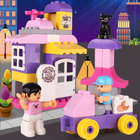 Kids Educational Toys Blocks 38pcs Big Size Building Block Toys For Toddlers My Town Large Bricks