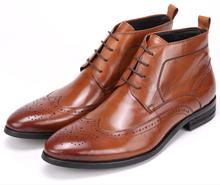 New Fashion black / brown mens ankle boots oxfords shoes genuine leather office shoes formal mens business shoes