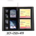8 in 1 Aluminum Storage Box Bag Memory Card Case Holder Wallet Large Capacity For 2* SD Card 2* CF Card 4*MicroSD Card