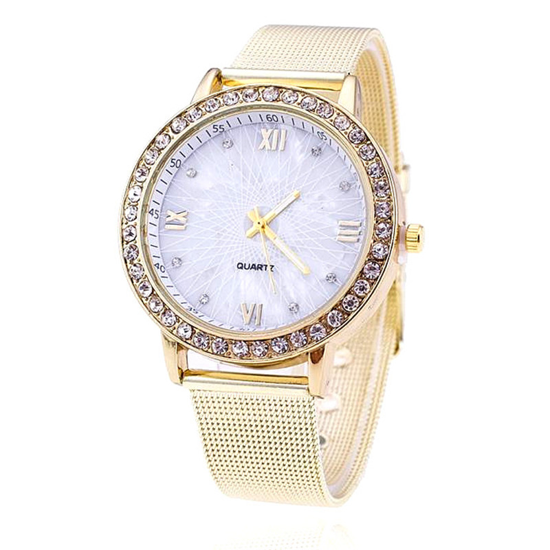 2018 Luxury Gold Watch Women Rhinestone Watch Ladies Fashion Dress Quartz Watch Reloj Mujer Relogio Feminino Best Gift meibo brand fashion women hollow flower wristwatch luxury leather strap quartz watch relogio feminino drop shipping gift 2012