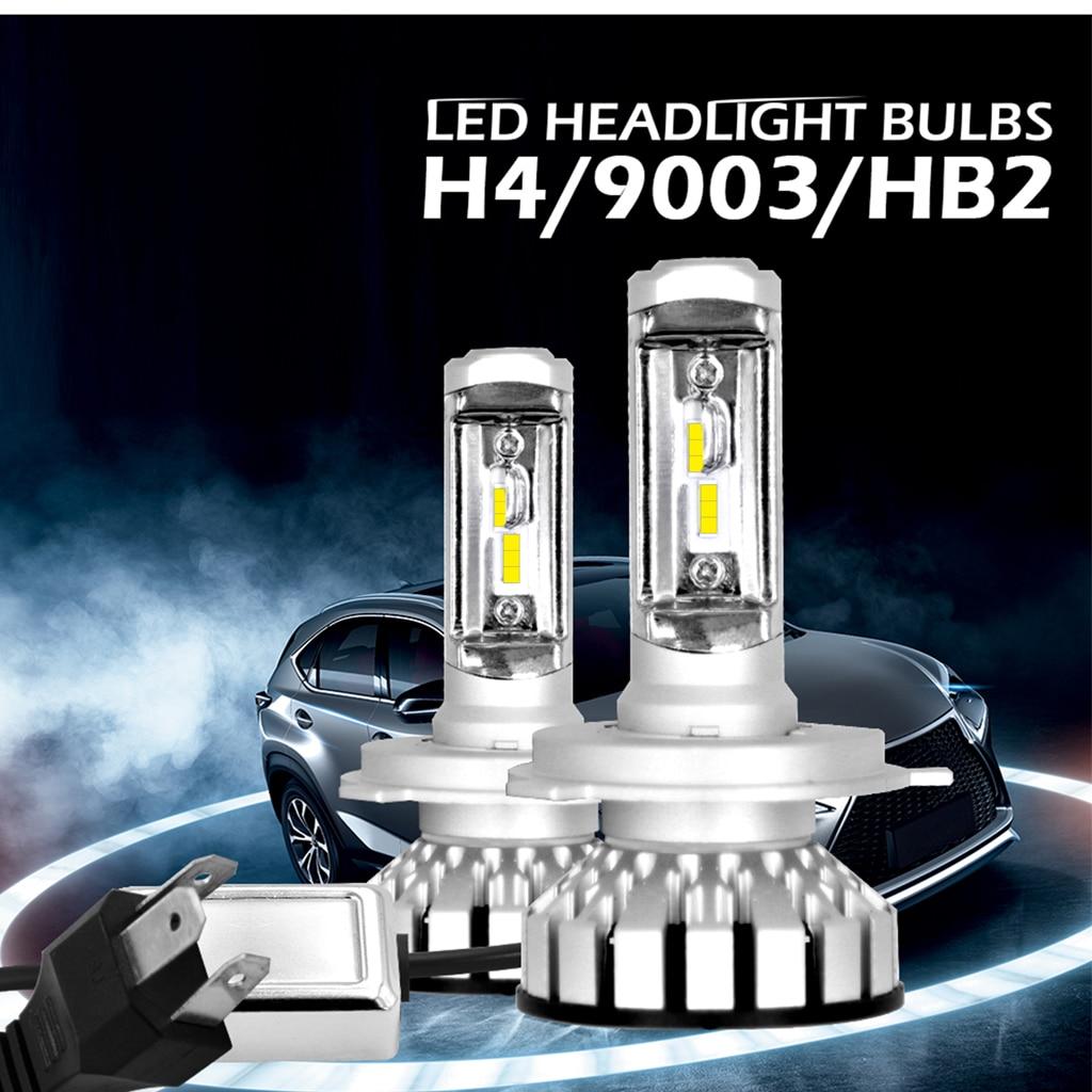 Anti-Interference 2pcs H4 9003 HB2 180W 30000LM LED Headlight Kit Hi/Lo Beam Bulbs 6000K 2018 tc x 2 pieces car led headlight bulbs kit h4 hi lo 9003 hb2 main beam dipped beam 12v 6000k white halogen replacement auto lamp