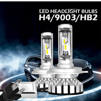 Anti Interference 2pcs H4 9003 HB2 180W 30000LM LED Headlight Kit Hi Lo Beam Bulbs 6000K