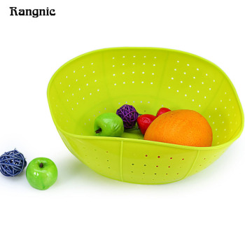 Rangnic Kitchenware Crockery Rack Silicone Draining Basket Rice and Vegetables Fruit Washing Kitchen Ware and Utensils P30