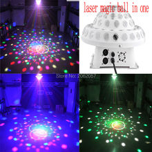 2016 LED 5*3W rgbyp magic ball red green laser light dj disco DMX512 profession Stage effect light  sound control party lights