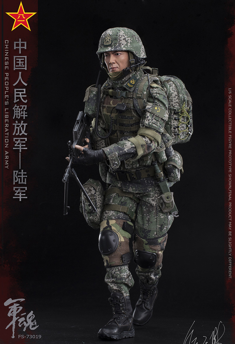 1/6 Scale Chiese People's Liberation Army Soul-Series Army Machine Gunner Military Solider Action Figure Full doll collection 12
