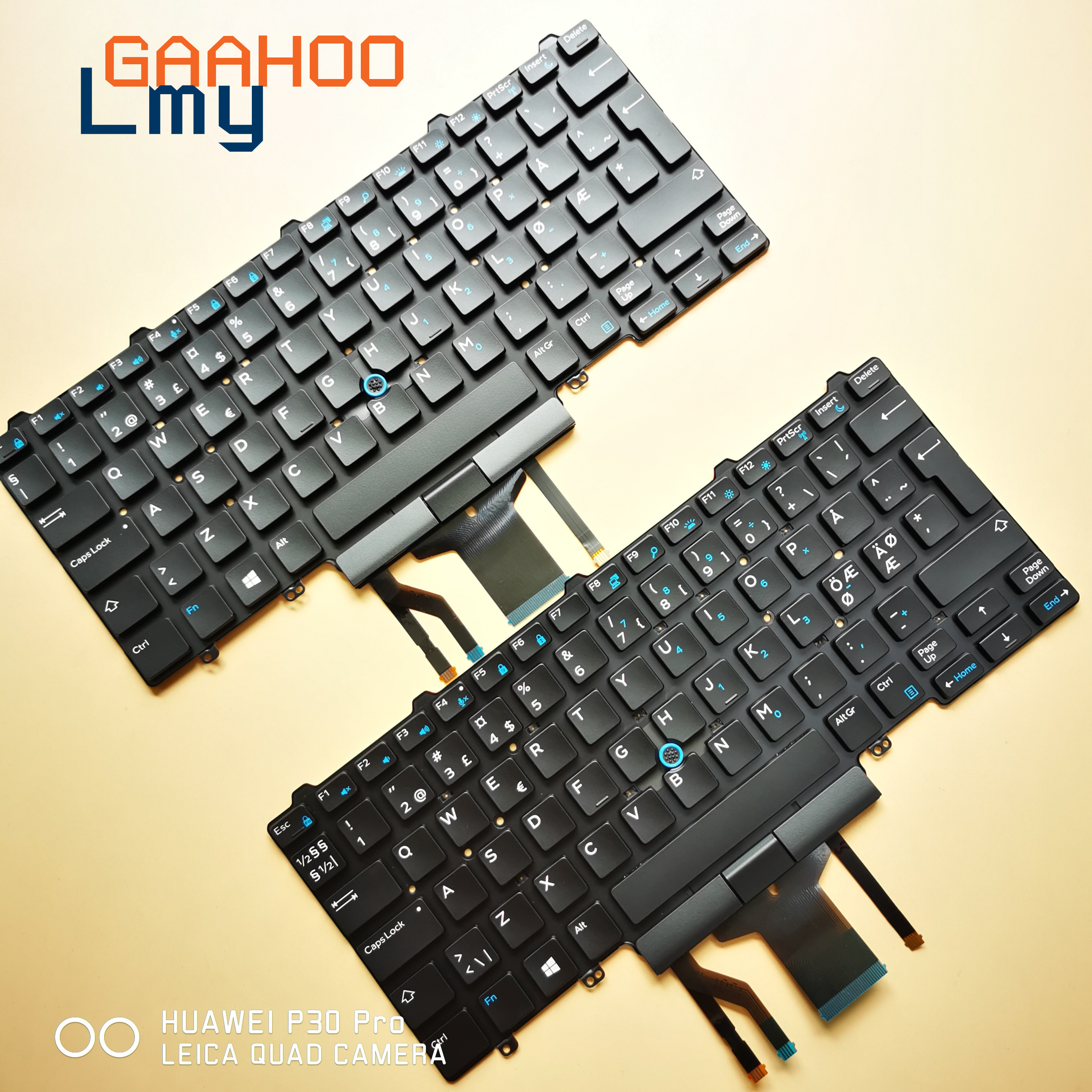NORDI NORW Laptop Keyboard For For Dell Latitude  E5450 E7450  7470 7480 7490 5470 5480  5490 Black /w Backlit  And Trackpoint