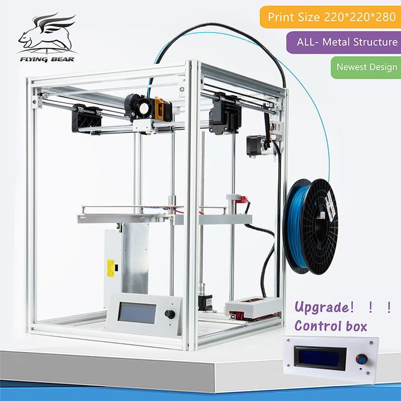 Prix pour Shiping libre Flyingbear DIY 3d Imprimante kit Full metal Grand impression taille Haute Qualité Précision Makerbot Structure Cadeau