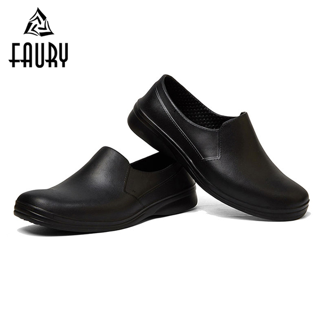 Us 28 39 29 Off Hotel Restaurant Kithcen Work Shoes For Men S Soft Non Slip Black Waterproof Shoes Zapatos De Chef Cozinha Footwear Shoes In